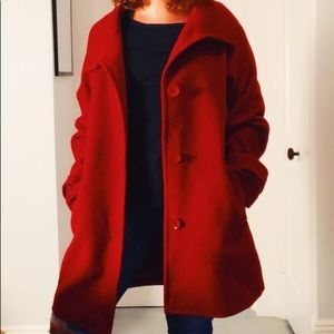 Talbots Red Pea Coat